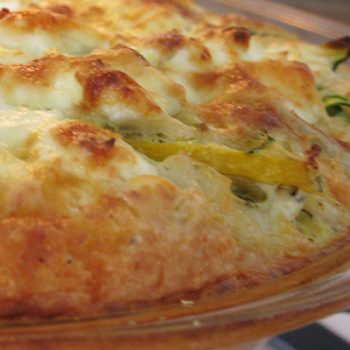 Zucchini & Cheese Quiche