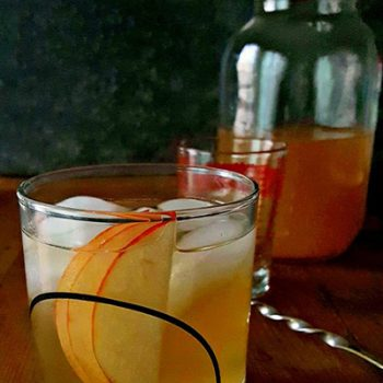 Spicy Olive Bourbon Mule