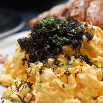 Eggs with Black Truffles