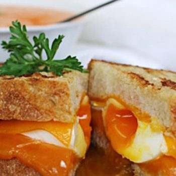 Poached Egg Grilled Cheese