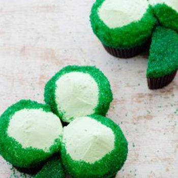 Velvet Shamrock Cupcakes