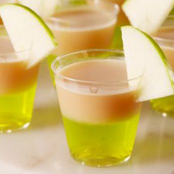 Caramel Apple Jell-O Shots