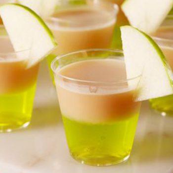 Caramel Apple Jell-O Shots