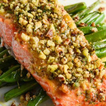 Pecan-Dill Crusted Salmon