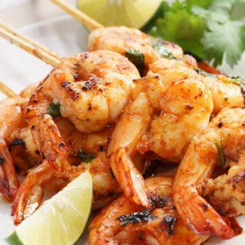 Honey & Rum Glazed Shrimp