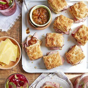 Ham Biscuit Sandwiches