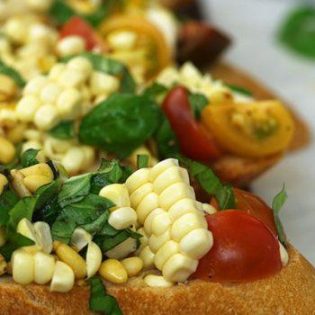 Corn & Tomato Bruschetta