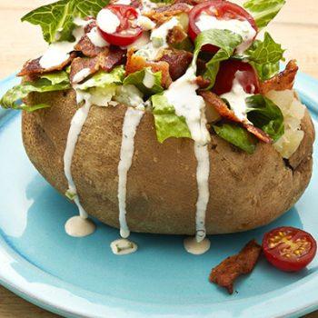 BLT Baked Potatoes