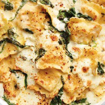 Baked Spinach Ravioli